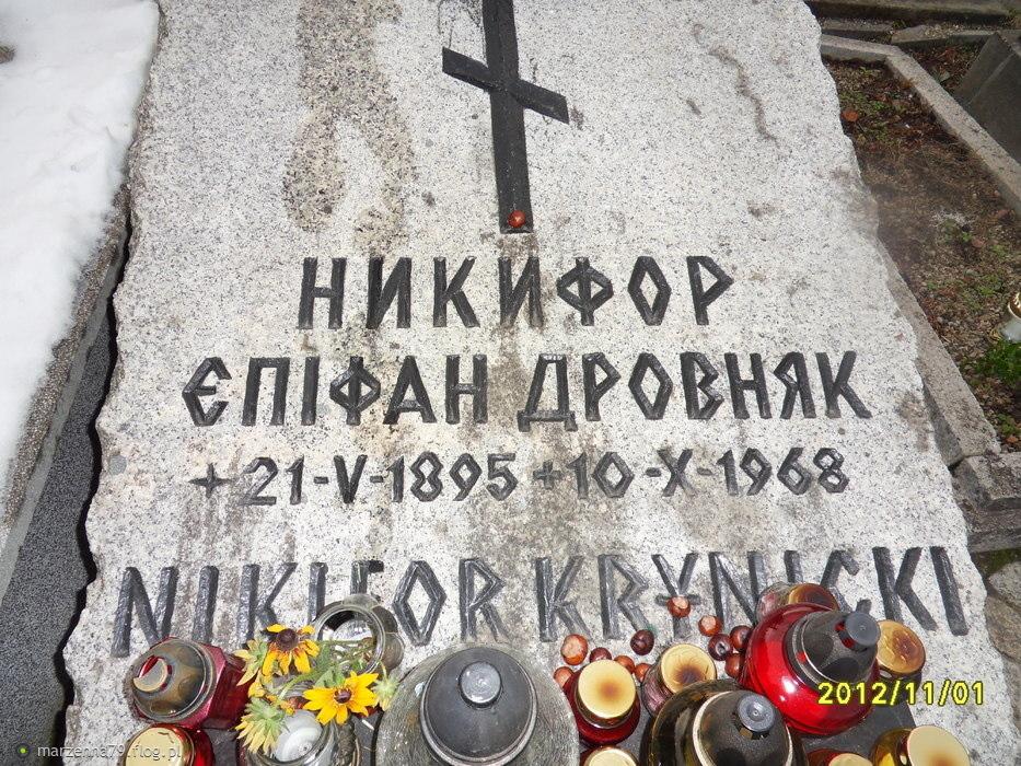 Cmentarz w Krynicy Zdrój - Grób Nikifora - malarza prymitywisty [*]