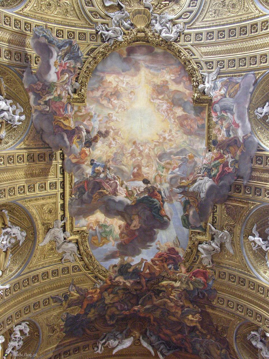 Giovanni battista gaulli detto il bacciccia trionfo del for Ca roma volta mantovana
