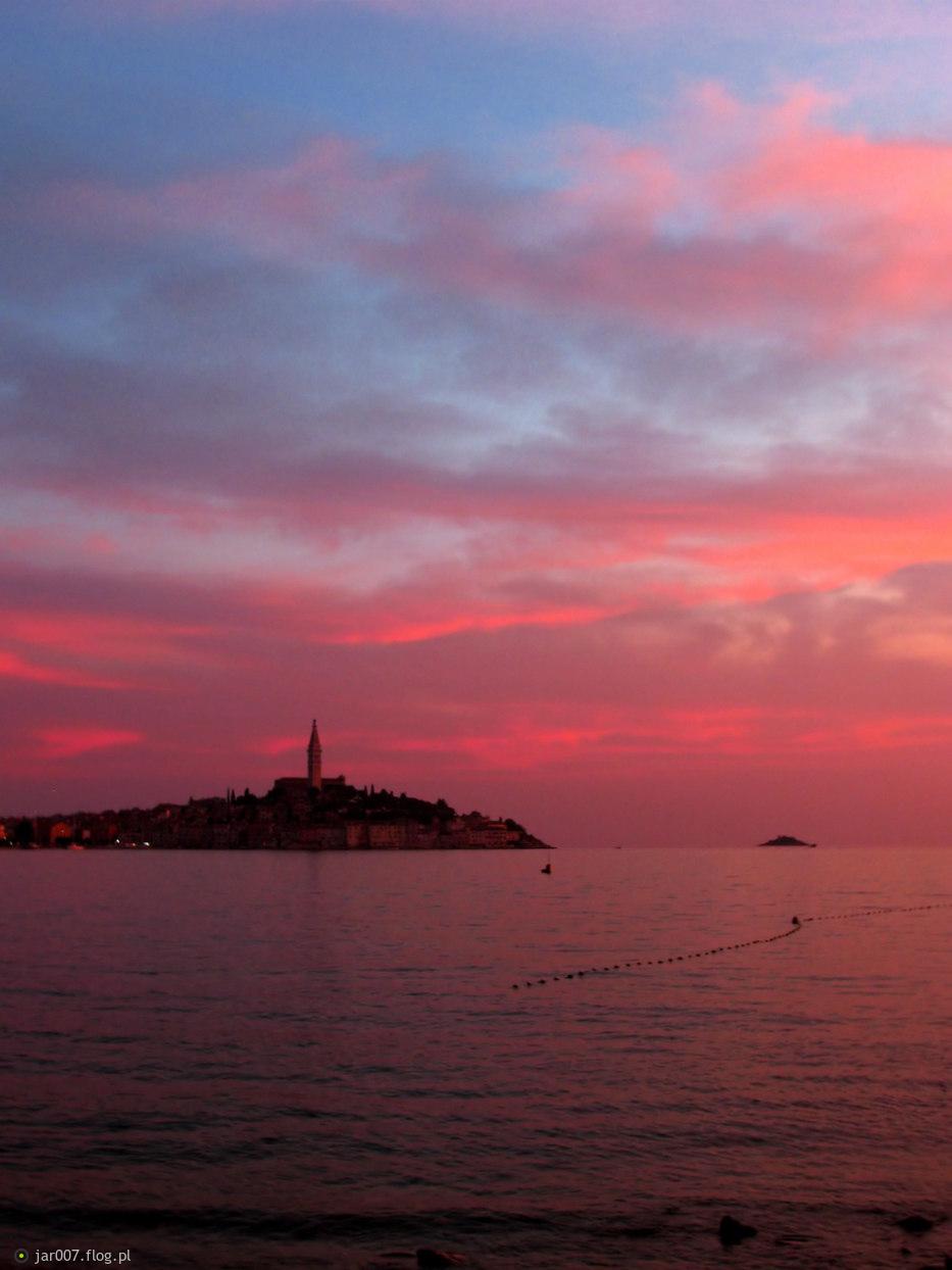 Zachód słońca w Rovinj (Chorwacja)