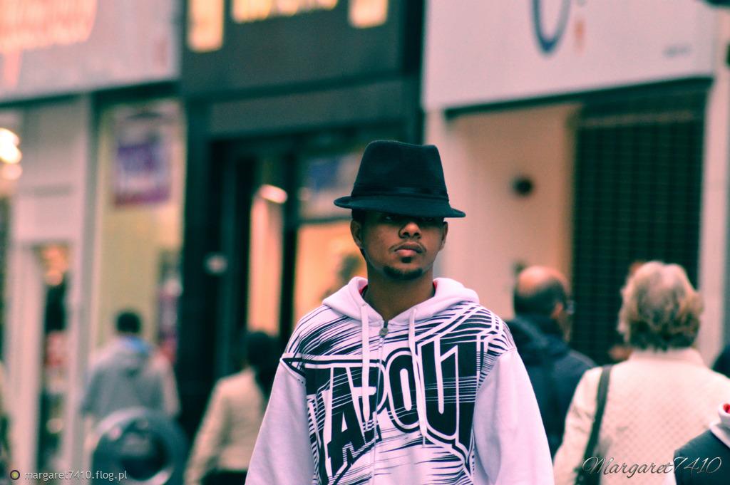 People on the street...