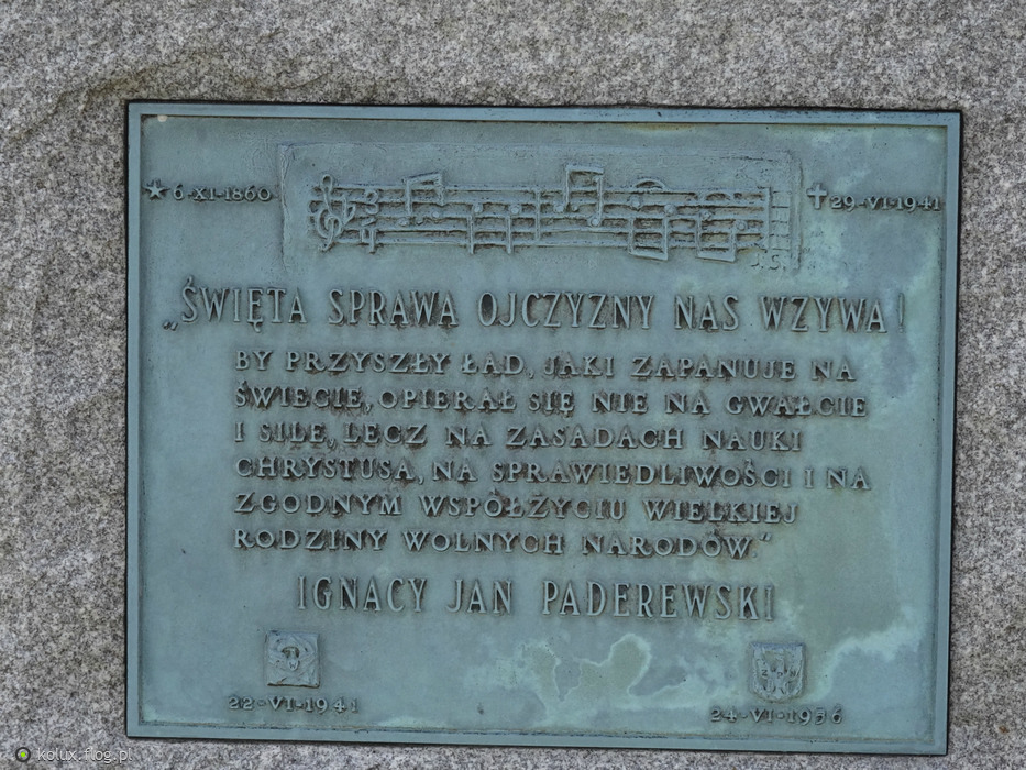 Polska Czestochowa w USA  cmentarz Ignacy Jan Paderewski  Fotoblog kolux fl   -> Kuchnie Weglowe Używane Czestochowa