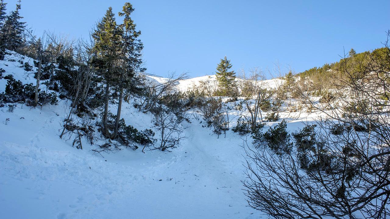 Przełęcz Brona widziana od dołu