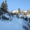 Przełęcz Brona widziana o<br />d dołu :: 9 marca 2014. Takiej stro<br />mizny dawno nie pokonywał<br />em, w dodatku ślisko jak <br />cholera.