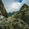 Przełęcz Zawrat - widok n<br />a stronę Czarnego Stawu G<br />ąsienicowego ::